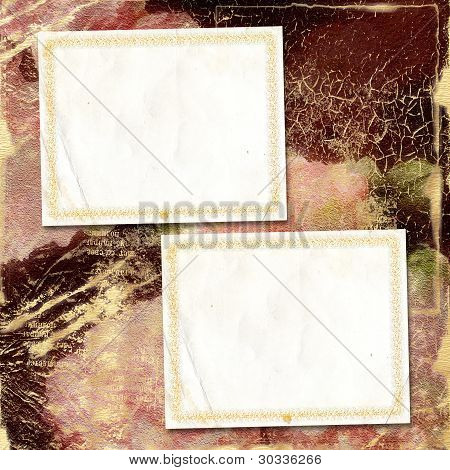 Framework For A Photo Or Congratulation. Abstract Paper Background.