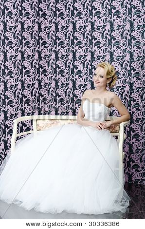 Bride Full Length Sitting Portrait
