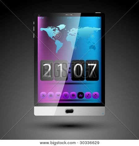 Tablet Concept With Touch Screen