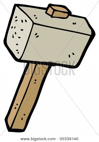 stone mallet cartoon