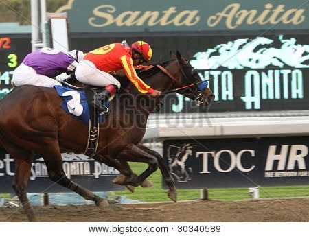 Drill Wins The San Vincente Stakes