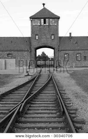 Main entrance to Auschwitz