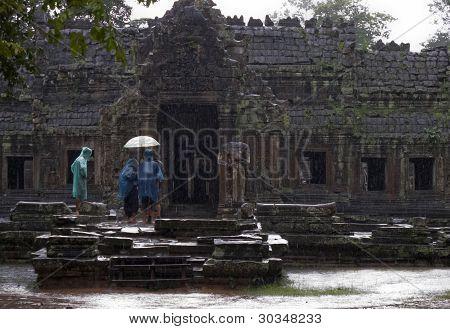 Preah Khan in the rain