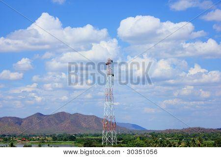 Receiving antenna.