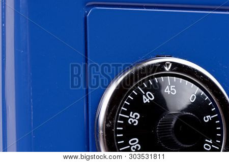 poster of Close Up Of Combination Safe Lock From The Blue Safe