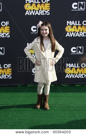 Santa Monica, ca 18 feb: Landry Bender in der 2012 Cartoon Network Hall of game Awards bei Barker h