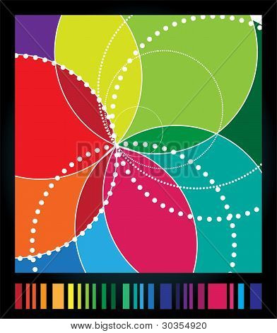 Spirograph background. Vector spirograph illustration
