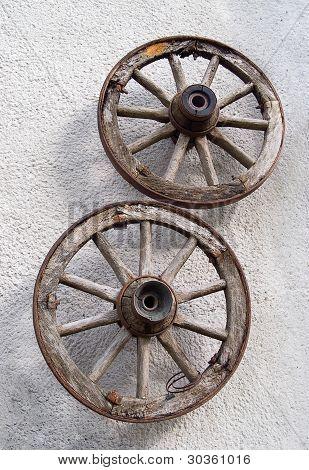 Old Woden Wagon Wheels