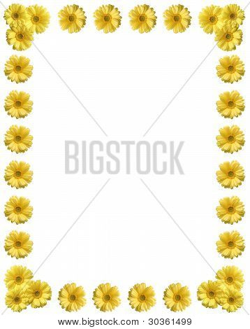 Yellow Flower Frame With Copy Space