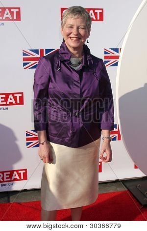 LOS ANGELES - FEB 24:  The British Consul General Dame Barbara Hay arrives at the GREAT British Film Reception at the British Consul General�¢??s Residence on February 24, 2012 in Los Angeles, CA.