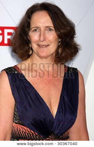 LOS ANGELES - FEB 24:  Fiona Shaw arrives at the GREAT British Film Reception at the British Consul General�¢??s Residence on February 24, 2012 in Los Angeles, CA.