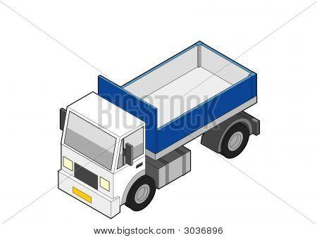 Isometric Dumper Truck