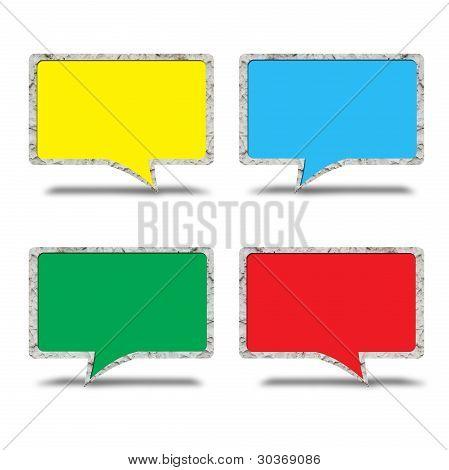 Grungy wall speech bubble