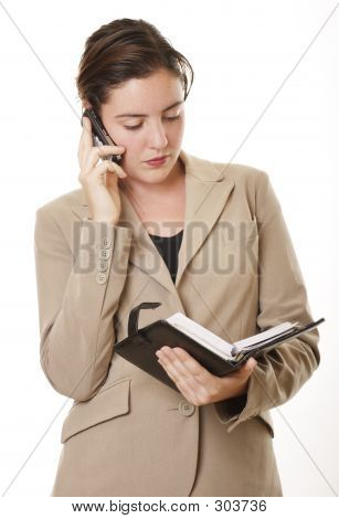 Businesswoman With Diary