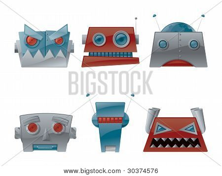 Vector Robot Heads
