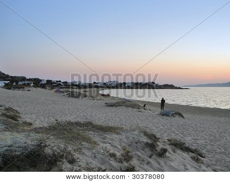 Coastal Scenery In Greece At Evening Time