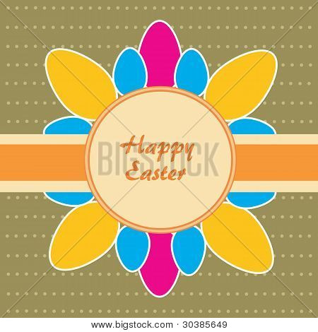 Easter Theme. Background With Dost And Eggs.