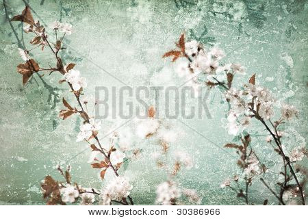 Floral scratched background