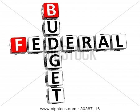 3D Budget Federal Text Crossword