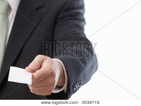 Handing Business Card