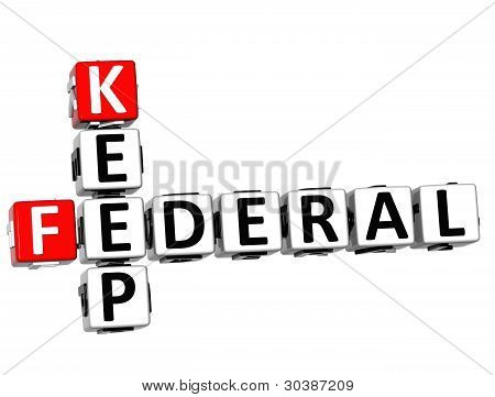 3D Keep Federal Text Crossword