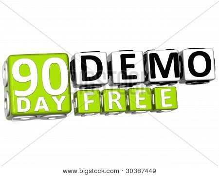 3D Get 90 Day Demo Free Block Letters