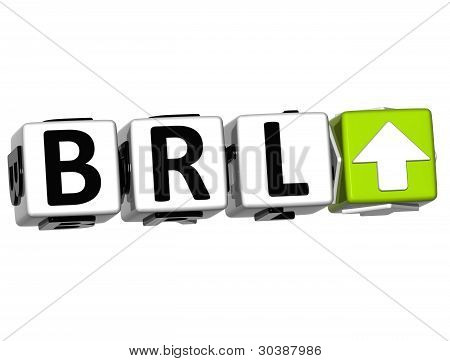 Currency Brl Ate Concept Symbol Button On White Background