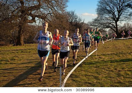 Runners competing in UK National Cross Country Championships 25 February 2012