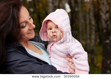 happy Woman with Babymädchen