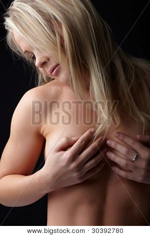 Nude Blonde Woman