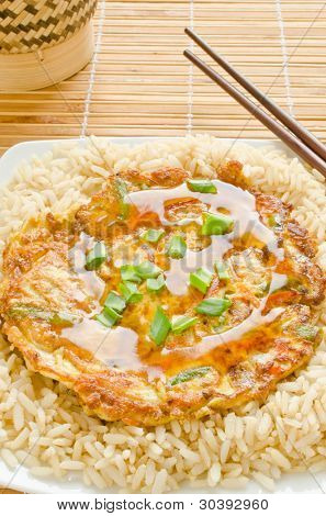 Egg Foo Young - Chinese vegetable omelet
