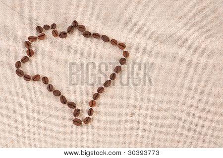 Brazil borders: Coffee Beans