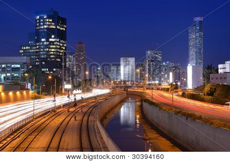 Skyline of Ramat Gan, the Financial District near Tel Aviv, Isreal.