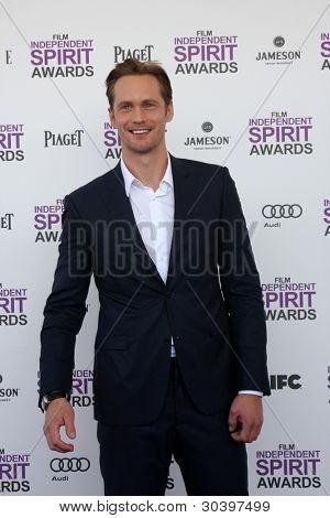 LOS ANGELES - FEB 25:  Alexander Skarsgard arrives at the 2012 Film Independent Spirit Awards at the Beach on February 25, 2012 in Santa Monica, CA