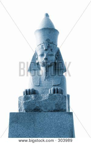 Sphinx At The Neva River Embankment - Monochrome
