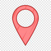 Map Pointer Pin Icon. Cartoon Illustration Of Map Pointer Pin Vector Icon For Web poster