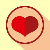 Love Icon. Heart Sign Symbol. Flat Heart Icon. Simple Design Heart Symbol. Heart Graphic Element. Ro poster