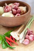 Asian Hot And Spicy Food Ingredient With Onions poster
