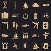Voyage Spot Icons Set. Simple Set Of 25 Voyage Spot Vector Icons For Web For Any Design poster