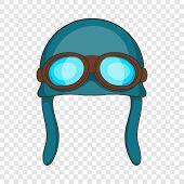 Aviation Helmet Icon. Cartoon Illustration Of Aviation Helmet Vector Icon For Web poster