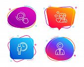 Waiting, Couple And Smile Icons Simple Set. Copyrighter Sign. Service Time, Valentines Day, Positive poster
