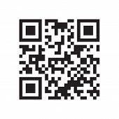 Qr Code. Abstract Vector Modern Bar Code Sample For Smartphone Scanning Isolated On White Background poster