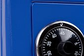 Close Up Of Combination Safe Lock From The Blue Safe poster