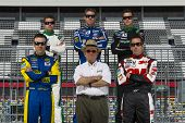 DAYTONA BEACH, FL - FEB. 22:  Members of the NASCAR team Roush Fenway pose for the Racing's annual p