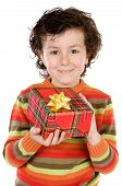 Child With A Gift Box