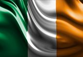 foto of irish flag  - Irish flag with some folds in it - JPG