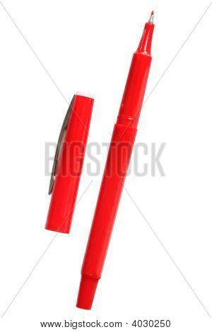 Caneta vermelha (com o caminho)