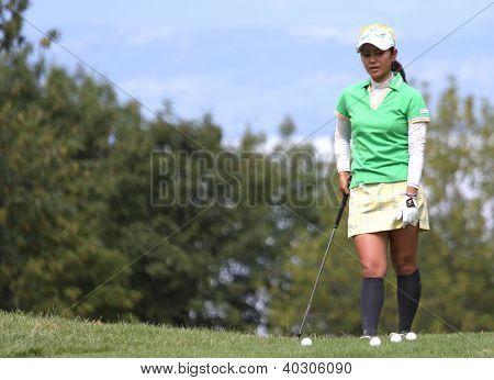 Ai Miyazato (JPN) at Evian Masters golf cup 2011
