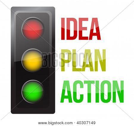 Traffic Light Design Planning Business