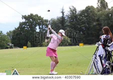 Mika Miyazato (JPN) at Evian Masters golf cup 2011